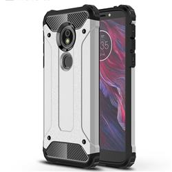 King Kong Armor Premium Shockproof Dual Layer Rugged Hard Cover for Motorola Moto E5 - Technology Silver