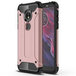 King Kong Armor Premium Shockproof Dual Layer Rugged Hard Cover for Motorola Moto E5 - Rose Gold