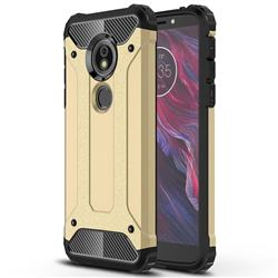 King Kong Armor Premium Shockproof Dual Layer Rugged Hard Cover for Motorola Moto E5 - Champagne Gold