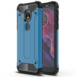 King Kong Armor Premium Shockproof Dual Layer Rugged Hard Cover for Motorola Moto E5 - Sky Blue