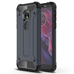 King Kong Armor Premium Shockproof Dual Layer Rugged Hard Cover for Motorola Moto E5 - Navy