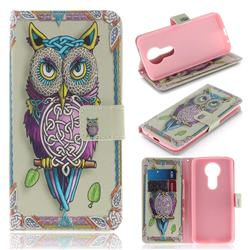 Weave Owl PU Leather Wallet Case for Motorola Moto E5