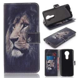 Lion Face PU Leather Wallet Case for Motorola Moto E5