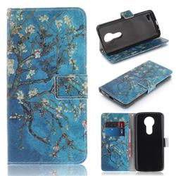 Apricot Tree PU Leather Wallet Case for Motorola Moto E5