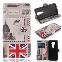 London Envelope PU Leather Wallet Case for Motorola Moto E5