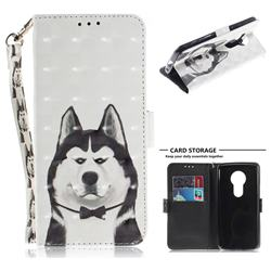 Husky Dog 3D Painted Leather Wallet Phone Case for Motorola Moto E5