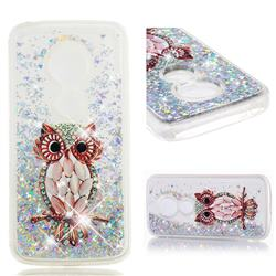 Seashell Owl Dynamic Liquid Glitter Quicksand Soft TPU Case for Motorola Moto E5 Plus