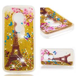 Golden Tower Dynamic Liquid Glitter Quicksand Soft TPU Case for Motorola Moto E5 Plus