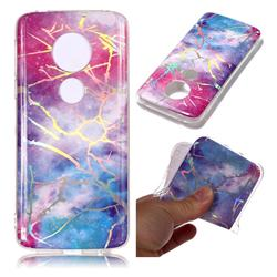 Dream Sky Marble Pattern Bright Color Laser Soft TPU Case for Motorola Moto E5 Plus
