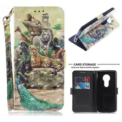 Beast Zoo 3D Painted Leather Wallet Phone Case for Motorola Moto E5 Plus
