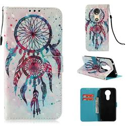 ColorDrops Wind Chimes 3D Painted Leather Wallet Case for Motorola Moto E5 Plus