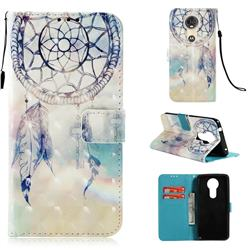 Fantasy Campanula 3D Painted Leather Wallet Case for Motorola Moto E5 Plus