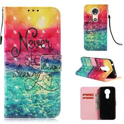 Colorful Dream Catcher 3D Painted Leather Wallet Case for Motorola Moto E5 Plus