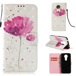 Watercolor 3D Painted Leather Wallet Case for Motorola Moto E5 Plus