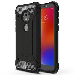 King Kong Armor Premium Shockproof Dual Layer Rugged Hard Cover for Motorola Moto E5 Play Go - Black Gold