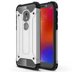 King Kong Armor Premium Shockproof Dual Layer Rugged Hard Cover for Motorola Moto E5 Play Go - Technology Silver