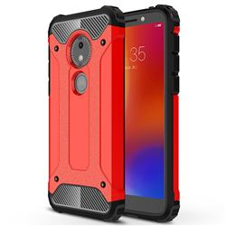 King Kong Armor Premium Shockproof Dual Layer Rugged Hard Cover for Motorola Moto E5 Play Go - Big Red