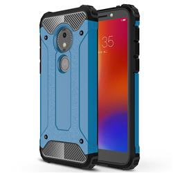King Kong Armor Premium Shockproof Dual Layer Rugged Hard Cover for Motorola Moto E5 Play Go - Sky Blue
