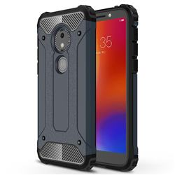 King Kong Armor Premium Shockproof Dual Layer Rugged Hard Cover for Motorola Moto E5 Play Go - Navy