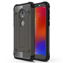 King Kong Armor Premium Shockproof Dual Layer Rugged Hard Cover for Motorola Moto E5 Play Go - Bronze