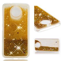 Dynamic Liquid Glitter Quicksand Sequins TPU Phone Case for Motorola Moto E5 Play - Golden