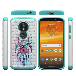 Color Drops Wind Chimes Studded Rhinestone Bling Diamond Shock Absorbing Hybrid Defender Rugged Phone Case Cover for Motorola Moto E5 Play