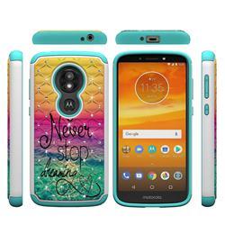 Colorful Dream Catcher Studded Rhinestone Bling Diamond Shock Absorbing Hybrid Defender Rugged Phone Case Cover for Motorola Moto E5 Play