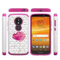Watercolor Studded Rhinestone Bling Diamond Shock Absorbing Hybrid Defender Rugged Phone Case Cover for Motorola Moto E5 Play