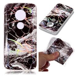 White Black Marble Pattern Bright Color Laser Soft TPU Case for Motorola Moto E5 Play