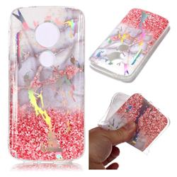 Powder Sandstone Marble Pattern Bright Color Laser Soft TPU Case for Motorola Moto E5 Play
