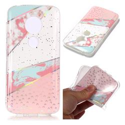 Matching Color Marble Pattern Bright Color Laser Soft TPU Case for Motorola Moto E5 Play