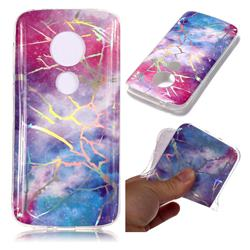 Dream Sky Marble Pattern Bright Color Laser Soft TPU Case for Motorola Moto E5 Play