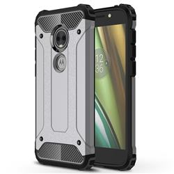 King Kong Armor Premium Shockproof Dual Layer Rugged Hard Cover for Motorola Moto E5 Play (Moto E5 Cruise) - Silver Grey