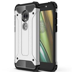King Kong Armor Premium Shockproof Dual Layer Rugged Hard Cover for Motorola Moto E5 Play (Moto E5 Cruise) - Technology Silver
