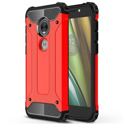 King Kong Armor Premium Shockproof Dual Layer Rugged Hard Cover for Motorola Moto E5 Play (Moto E5 Cruise) - Big Red