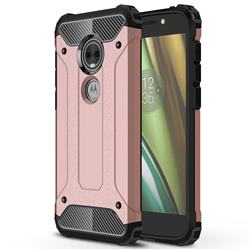 King Kong Armor Premium Shockproof Dual Layer Rugged Hard Cover for Motorola Moto E5 Play (Moto E5 Cruise) - Rose Gold