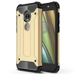 King Kong Armor Premium Shockproof Dual Layer Rugged Hard Cover for Motorola Moto E5 Play (Moto E5 Cruise) - Champagne Gold