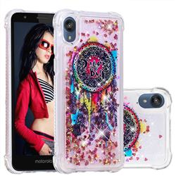 Seal Wind Chimes Dynamic Liquid Glitter Sand Quicksand Star TPU Case for Motorola Moto E6