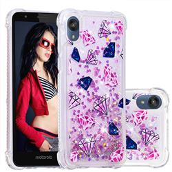 Diamond Dynamic Liquid Glitter Sand Quicksand Star TPU Case for Motorola Moto E6
