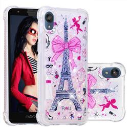 Mirror and Tower Dynamic Liquid Glitter Sand Quicksand Star TPU Case for Motorola Moto E6