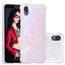 Dynamic Liquid Glitter Sand Quicksand Star TPU Case for Motorola Moto E6 - Pink