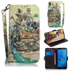 Beast Zoo 3D Painted Leather Wallet Phone Case for Motorola Moto E6