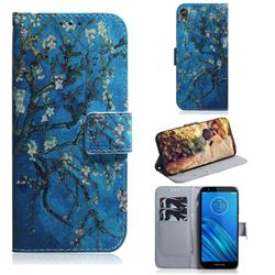 Apricot Tree PU Leather Wallet Case for Motorola Moto E6