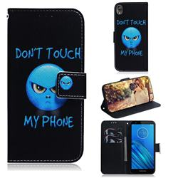 Not Touch My Phone PU Leather Wallet Case for Motorola Moto E6