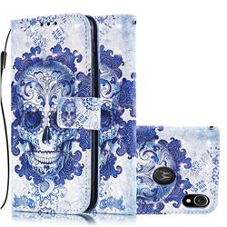 Cloud Kito 3D Painted Leather Wallet Case for Motorola Moto E6