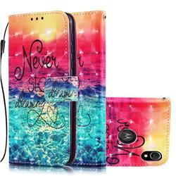 Colorful Dream Catcher 3D Painted Leather Wallet Case for Motorola Moto E6