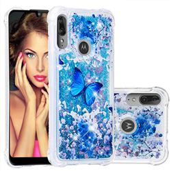 Flower Butterfly Dynamic Liquid Glitter Sand Quicksand Star TPU Case for Motorola Moto E6 Plus