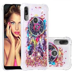 Seal Wind Chimes Dynamic Liquid Glitter Sand Quicksand Star TPU Case for Motorola Moto E6 Plus