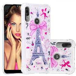 Mirror and Tower Dynamic Liquid Glitter Sand Quicksand Star TPU Case for Motorola Moto E6 Plus