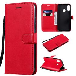 Retro Greek Classic Smooth PU Leather Wallet Phone Case for Motorola Moto E6 Plus - Red